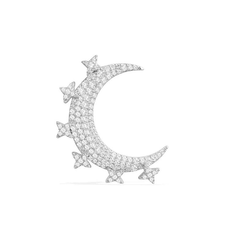 Moon Created Diamond Single Stud Earring