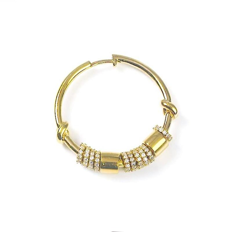 Yellow Gold Huggie Hoop Single Earring
