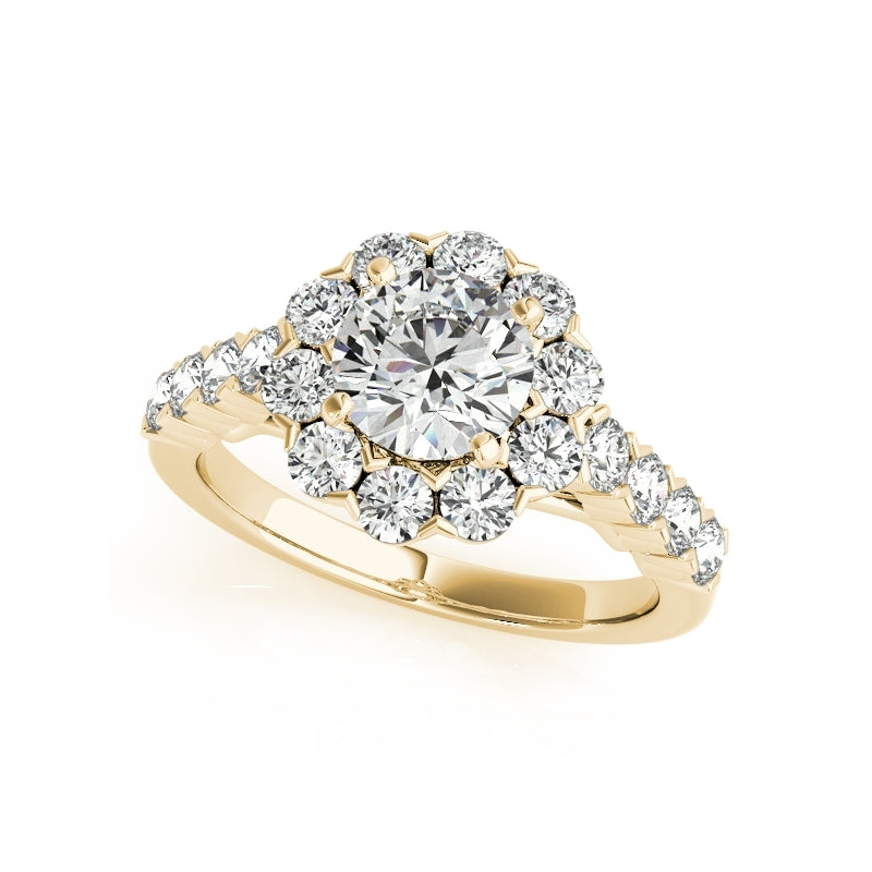 Halo Floral Design Created Diamond Bridal Ring Set