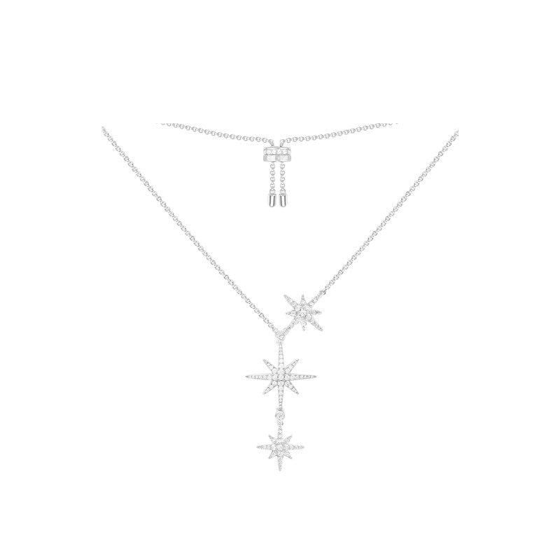 Sterling Silver Meteor Adjustable Pendant Necklace