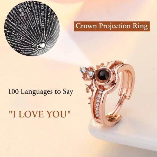 "100 Languages ""I LOVE YOU"" Necklace and Ring"