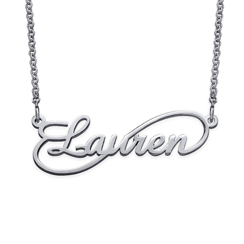 Sterling Silver Infinity Name Necklaces Personalized Jewelry