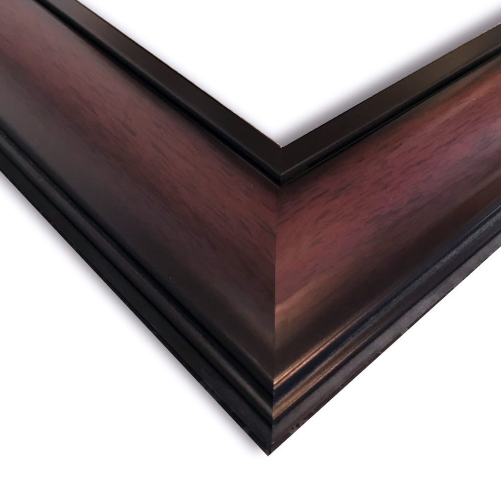 "Hudson Dual Tone Cherry Black Wood Wall Picture Frame 2.25"" Wide - West Frames"