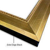 "Vienna Angled Wood Picture Frame Antique Gold 2 3/8"" Wide"