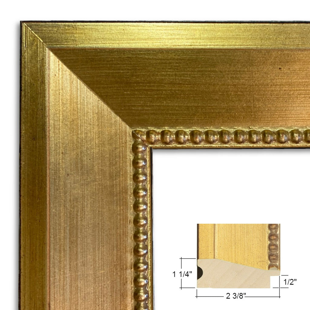 Vienna Angled Wood Picture Frame Antique Gold - West Frames