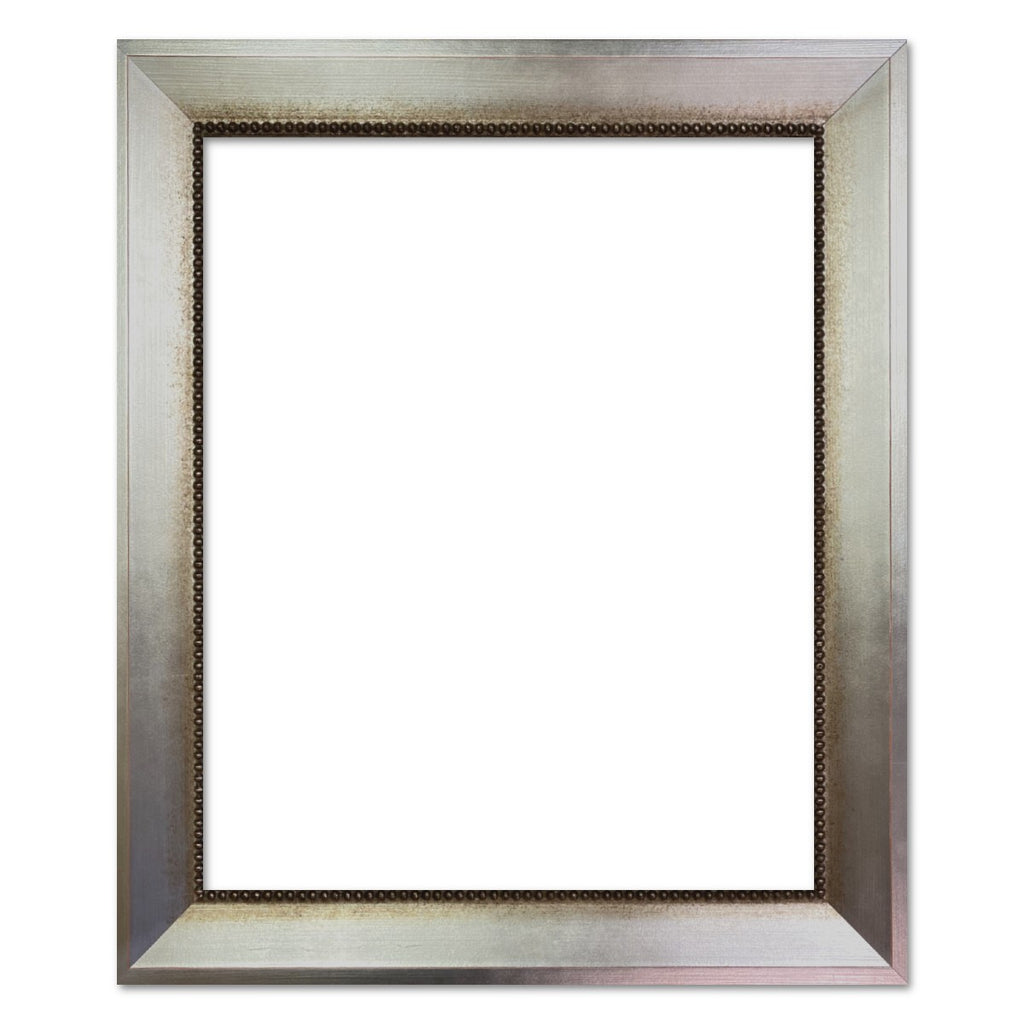 Vienna Angled Wood Picture Frame Antique Aged Silver - West Frames