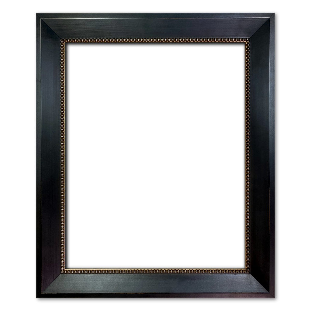 Vienna Angled Wood Picture Frame Antique Aged Black - West Frames