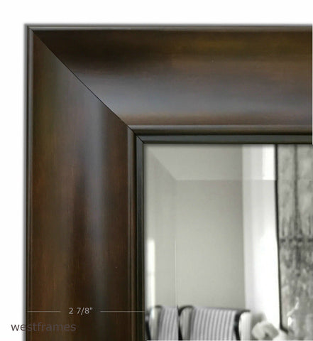 Hugo Rectangle Decorative Wall Mirror Dark Walnut