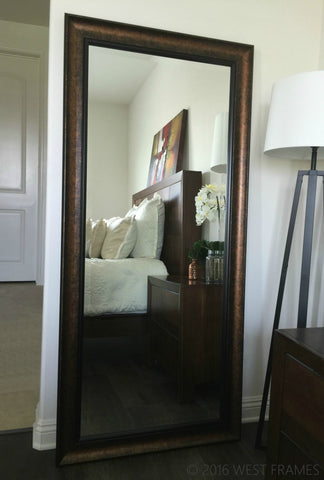Tuscan Bronze Black Framed Leaner Floor Mirror