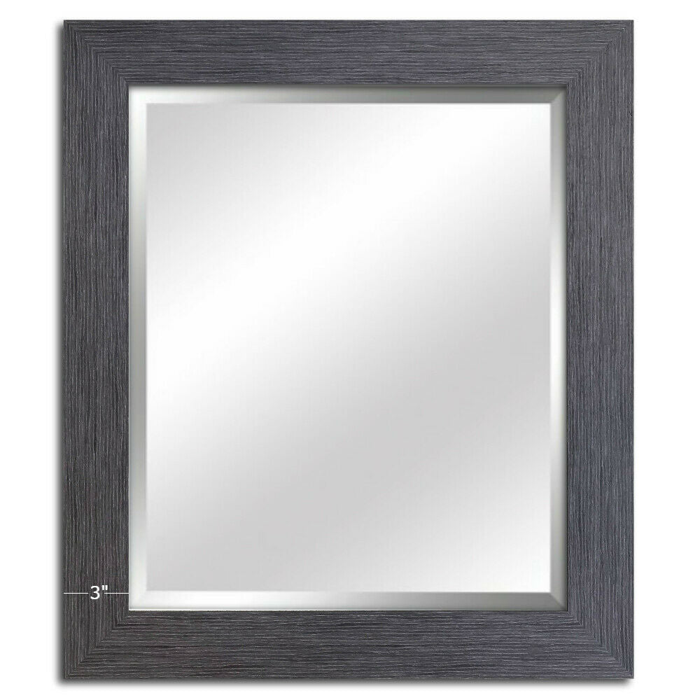 Barn House Rustic Gray Framed Wall Mirror -West Frames