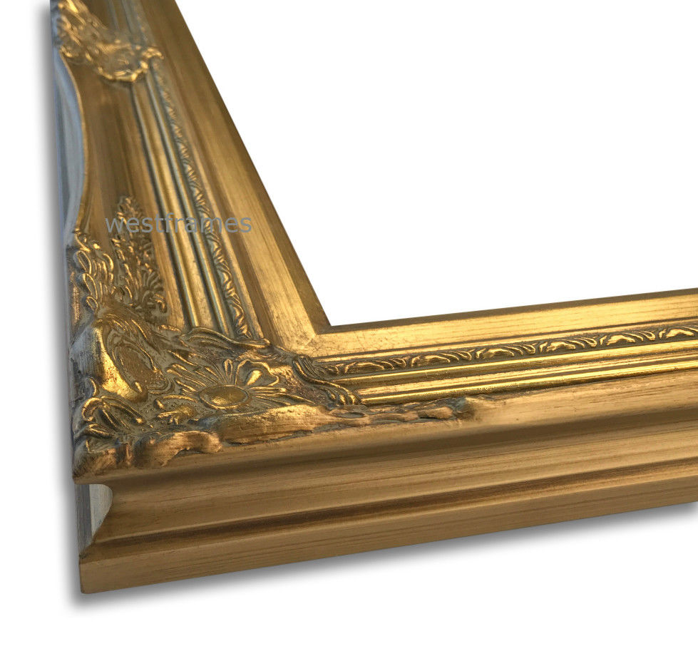 Georgiana Ornate Antique Gold Leaf Wood Baroque Picture Frame - West Frames