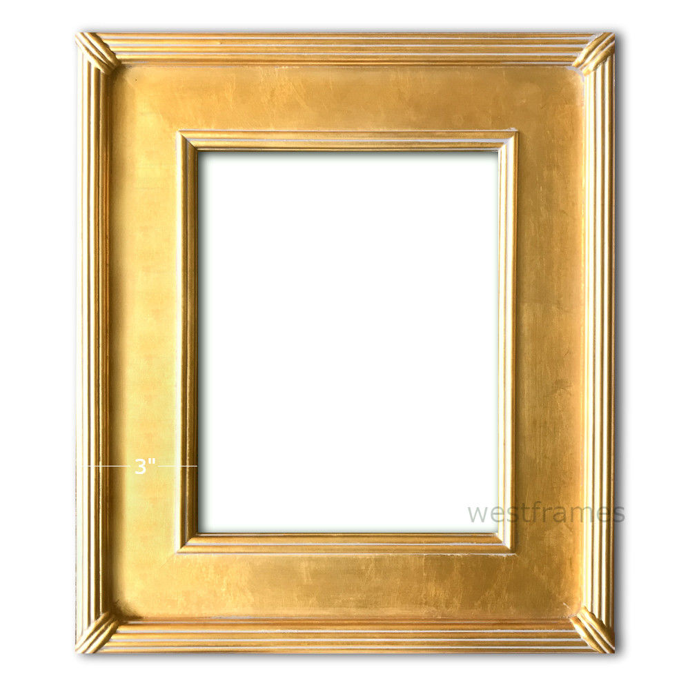 West Frames The Gallery Wood Picture Frame Antique Gold Leaf