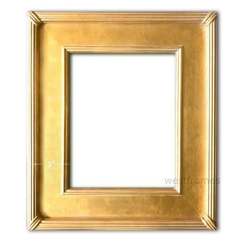West Frames Gallery Wood Picture Frame Gold
