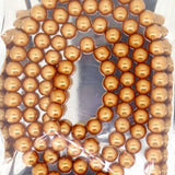 Glass Pearl Pearlescent Beads 8mm Round 1mm Hole , Peru, 100pcs, Jewelry Making