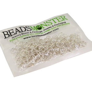 BeadsMonster Jewelry Findings Jump rings for Jewelry design and Making , Silver Color, 7mm, 20g