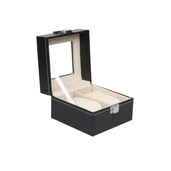 High quality black PU watch Collection Storage display box