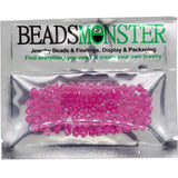 Pack of 100 Glass Beads, Bicone, 4x4mm, 1mm Hole,  Rose Color