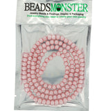 Glass Pearl Pearlescent Beads 6mm Round, Pink, 140pcs, Jewelry Making Design