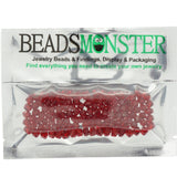 Pack of 100 Glass Beads, Bicone, 4x4mm, 1mm Hole,  Ruby Color