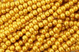Glass Pearl Pearlescent Beads 8mm Round 1mm Hole , Gold , 100pcs, Jewelry Making