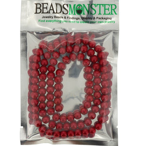 8mm Glass Pearl Beads