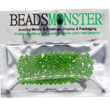 Pack of 100 Glass Beads, Bicone, 4x4mm, 1mm Hole,  Light Green Color