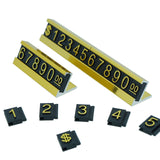 Golden Number Letter and Base Price Display Counter Stand Tag (set of 16)