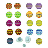 Seamless colorful aztec Pattern, Glass Cabochons Magnetic Earrings, 10x3.5mm