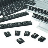 Silver Number Letter and Base Price Display Counter Stand Tag (set of 16)