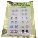 Cute Magnetic Stud Fashion Earrings for Teen Girls Kids, Mix Crystal Color and Design, Pack of 12 Pairs