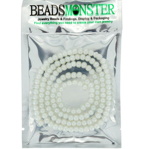 6mm Glass Pearl Beads