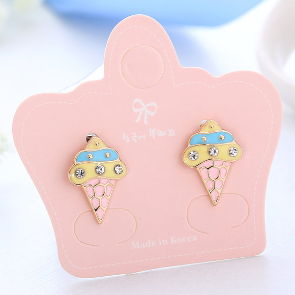 Fashion ice cream Charm Clip on Earrings 1 Pair For Women Teenage Girl children