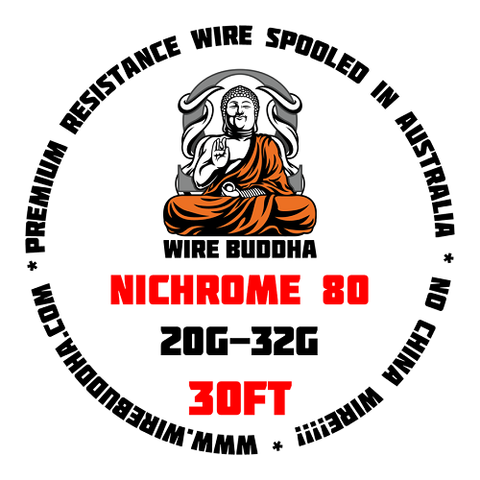 Nichrome 80 (Ni80) 30FT (USA/Europe Milled) by Wire Buddha - Geelong Vape Co.