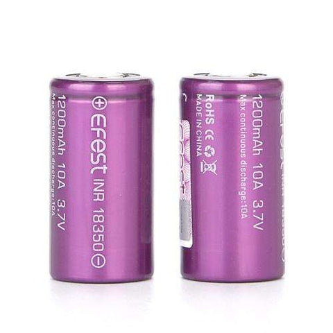 Efest 18350 10A 1200mAh Battery (Twin Pack)