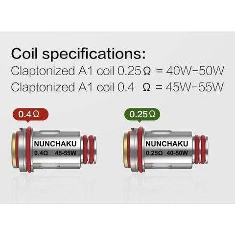 Nunchaku Tank Replacement Coils - Geelong Vape Co.