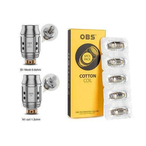 OBS KFB2 Mini S1 & N1 Replacement Coils - Geelong Vape Co.