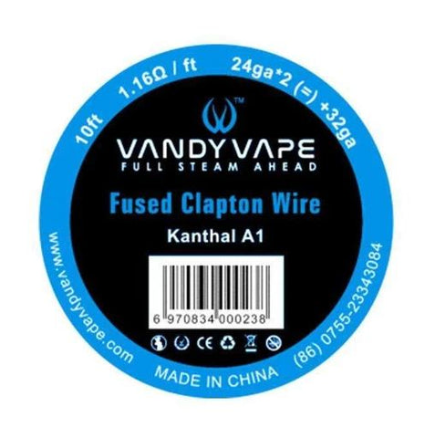 Vandy Vape Fused Clapton Wire Kanthal A1 - The Geelong Vape Co.