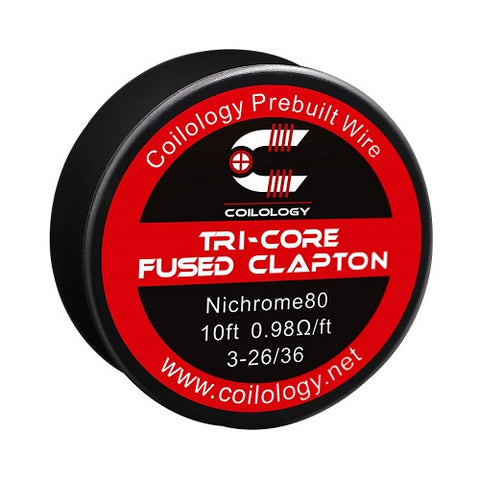 Coilology Pre-Built Tri-Core Fused Clapton Wire Spool