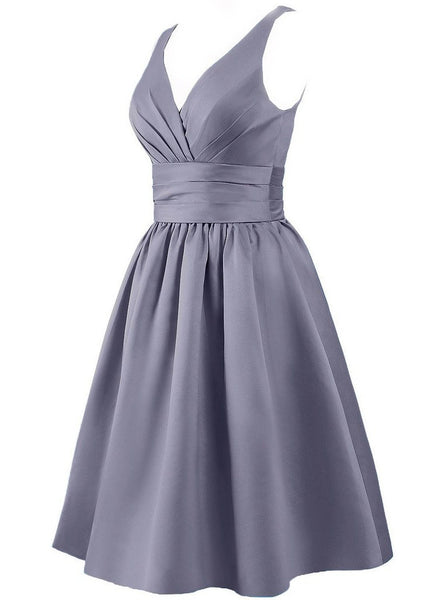V-neck Bridesmaid Dress,Short Bridesmaid Dress,Pretty Bridesmaid Dress , A-line Bridesmaid dress ,PD112