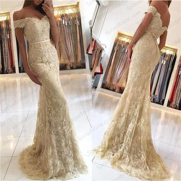 charming mermaid off the shoulder prom dress lace evening dress long prom dress,HS123