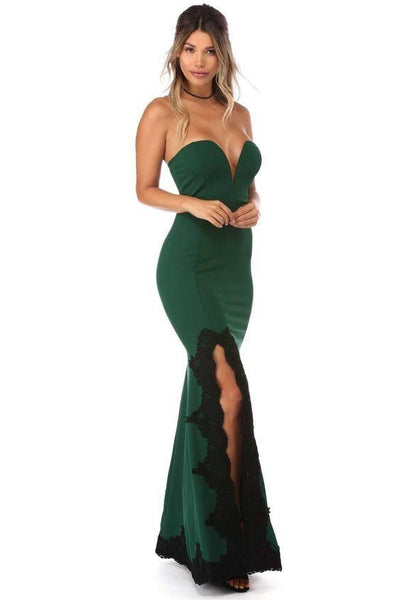 Sweetheart Prom Dresses, Mermaid Sexy Prom Dress, Lace Prom Dress, Side Split Prom Dress,HS138