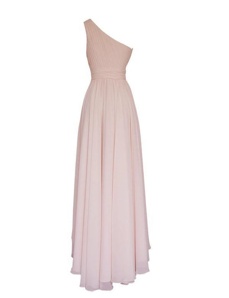 One-shoulder Bridesmaid Dress,Simple Bridesmaid Dress,Pretty Bridesmaid Dress,Charming Bridesmaid dress ,PD142
