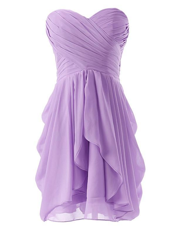 Sweet Bridesmaid Dress, Strapless Bridesmaid Dress,Pretty Bridesmaid Dress,Charming Bridesmaid dress ,PD152