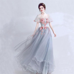 Custom Short Sleeves Pretty Gorgeous Formal High Quality Prom Dresses, Evening Dresses,HS159