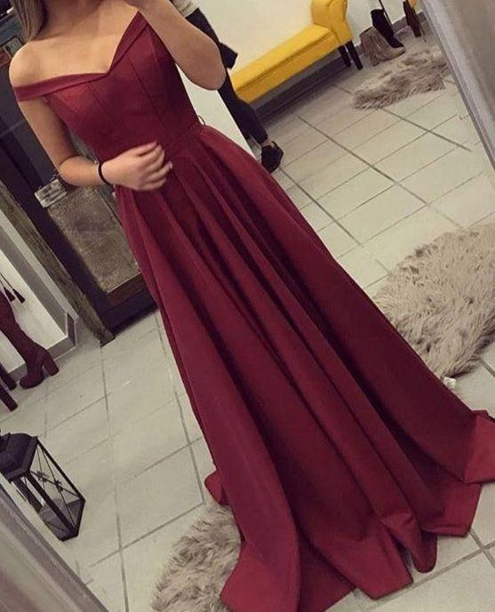 off the shoulder long prom dress a-line evening dress,HS178