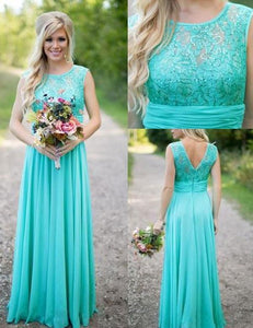 Elegant Bridesmaid Dress,Scoop Bridesmaid Dress,A-line Bridesmaid Dress,Sleeveless Bridesmaid Dress, Cheap Bridesmaid Dress, PD18