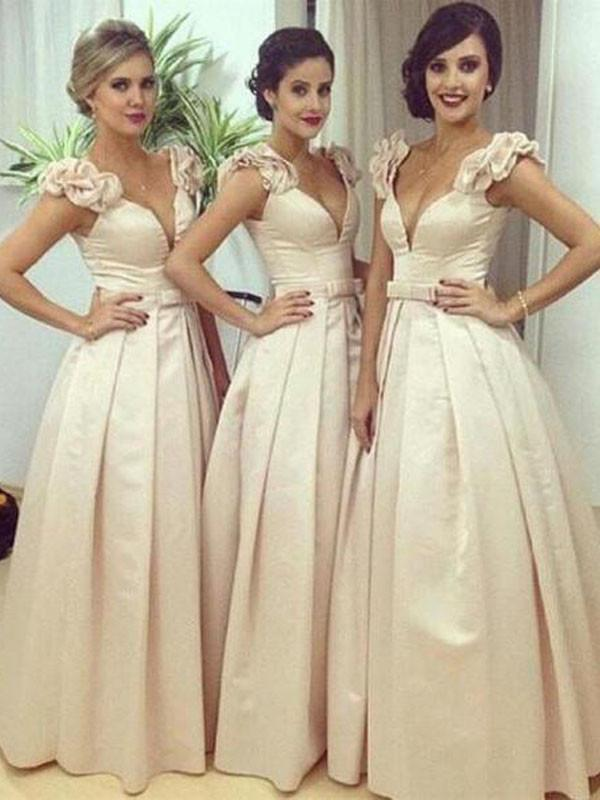 Elegant Bridesmaid Dress,V-neck Bridesmaid Dress,Pretty Bridesmaid Dress,Charming Bridesmaid dress ,PD195