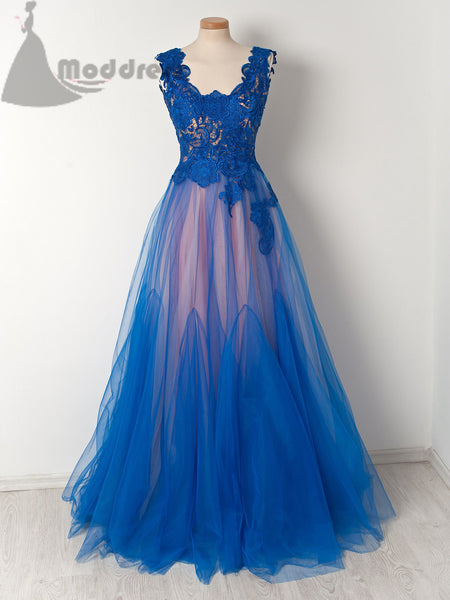 2018 lace long prom dress sexy tulle a-line evening dress,HS356
