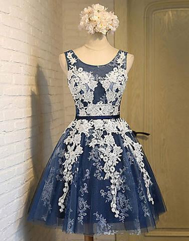 lace appliques homecoming dress, short homecoming dress,cheap homecoming dress, charming homecoming dress, BD39750