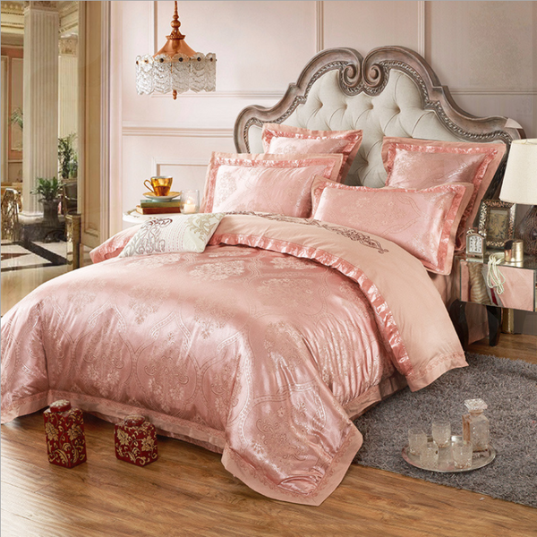 60s Hessian Satin Jacquard Four-Pieces Bedclothes Cotton Sheets Bedding 4 Sets,6 Sets,CD0008.11